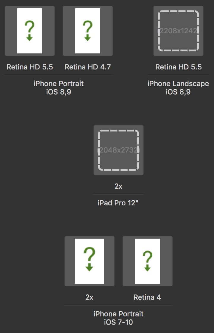 Image For Each Device Size Type IPhone IPad Apple TV And Screen Resolution Like Retina HD 55 Plus 47 6 Up